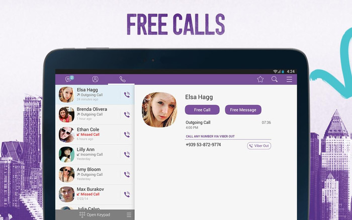 Бесплатные звонки Viber