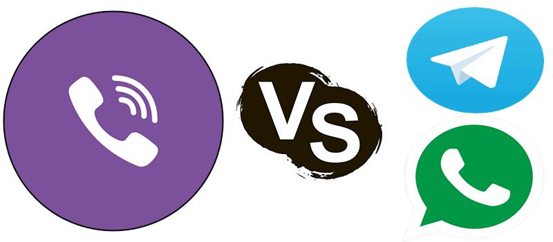 Какой мессенджер лучше Whatsapp, Viber или Тelegram?